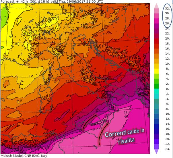 temperature 850